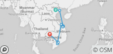 Best of Vietnam and Cambodia Tour - 14 days  - 10 destinations