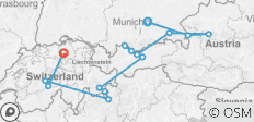 Grand Alpine Explorer - with Porterage (including Neuschwanstein) - 14 destinations