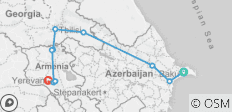 Azerbaijan - Georgia - Armenia / CAUCASUS / 8 Days  - 11 destinations
