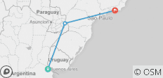 From Buenos Aires to RIO (11 Nights) (from Buenos Aires to Rio de Janeiro) - 3 destinations