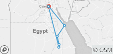 Cairo, Aswan, Luxor and Hurghada overland - 7 destinations