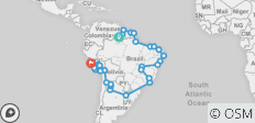 Trans South America (Boa Vista to Lima) - 64 destinations