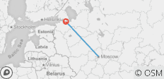 Two Capitals Moscow and St Petersburg - 2 destinations