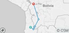 Overland San Pedro de Atacama to Uyuni and La Paz (6 Nights) (from Calama to La Paz) - 7 destinations