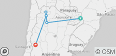 From the Falls to the Andes (11 Nights) - 6 destinations