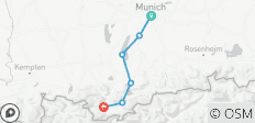 From Munich to Garmisch - 6 destinations