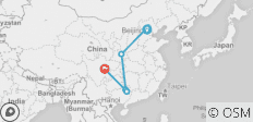 China Discovery Tour: Peking, Xian, Guilin, Chengdu 11 Tage mit 4 Sterne Hotel - 5 Destinationen