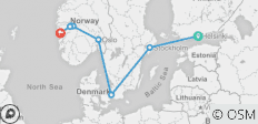 Nordic explorer Helsinki, Stockholm, Copenhagen & Norway-in-a-Nutshell - 8 destinations