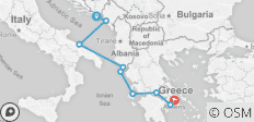 Cruising the Adriatic Coast: Dubrovnik to Athens - 9 destinations