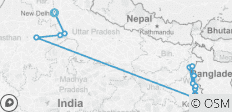 Colours of India & The Lower Ganges Delhi to Kolkata (Downstream) (2020) - 15 destinations
