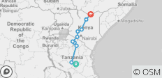 15 Days Itinerary Tanzania, Kenya and Ethiopia. - 10 destinations