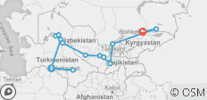 Route of the Caravans: The Silk Road - 14 destinations