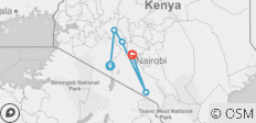 7 days Masai Mara - Lake Nakuru-Lake Naivasha-Amboseli Safari - 5 destinations