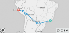 Journey Across South America - 19 Days - 15 destinations