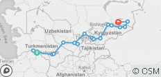 The Five Stans of Central Asia ( The Best of Central Asia in 15 Days Tour ) - 19 destinations