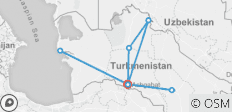 Classic Turkmenistan Tour  - 8 destinations