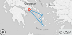 Greek island hopping Athens, Mykonos, Paros and Santorini  - 5 destinations