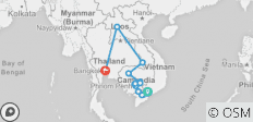 Journey along the Mekong 18 Days (from Ho Chi Minh City to Bangkok) - 13 destinations