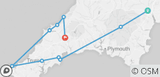 Walk Devon Cornwall 6 day Guided - 10 destinations
