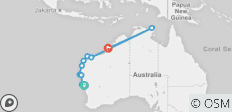Colours of the Coral Coast Geraldton to Broome (2020) - 10 destinations