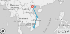 10 DAYS 9 NIGHTS CLASSIC VIETNAM TOUR  FROM SOUTH TO NORTH  - 6 destinations