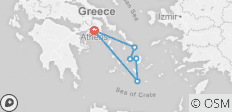 Greek Island Hopping - 11 Days - Premium - 6 destinations