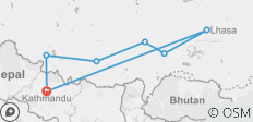 TIBET OVERLAND TOUR (KATHMANDU TO LHASA): 07 NIGHTS 08 DAYS DRIVE IN FLY OUT TOUR - 7 destinations