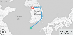 Cycle South Korea - 5 destinations