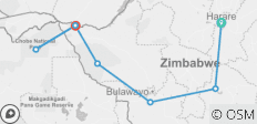 Zimbabwe & Botswana in 8 Days, incl. Chobe NP - 7 destinations