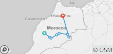 3 Days 2-Nights Sahara Desert shared group tour From Marrakech to Fes  - 8 destinations