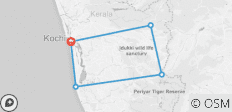 Kerala Backwaters Tour Package 5N/6D - 5 destinations