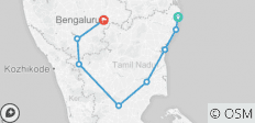 Alluring South India Tour  12N/13D - 8 destinations