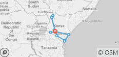 Kenya. Beaches, safari and cities - 15 destinations