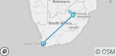 Johannesburg & Cape Town - 10 Days - 27 destinations