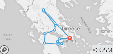 Best of Greece Reverse (9 Days) - 12 destinations