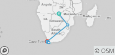 Journey to South Africa + Victoria Falls (2020 Itinerary) - 13 destinations