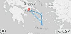Island Hopping in Greece including Athens-Mykonos-Santorini-Ios (Self-guided) - 5 destinations