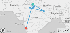 North India Tour with Goa - 11 destinations
