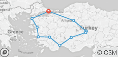 Seven Wonders of Turkey, 14 Days - 12 destinations