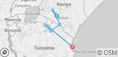 Kenya Tanzania and Zanzibar Safari + Beach - 7 destinations