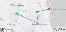 7 Days Southern Tanzania Guided Safari to Selous, Mikumi & Ruaha Package - 4 destinations