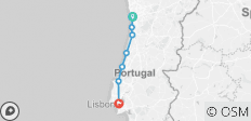 Porto to Lisbon self-guided - Picturesque rides along the Atlantic coast - 7 destinations