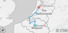 Amsterdam & Brussels Bound (Brussels to Amsterdam, 2020) - 6 destinations