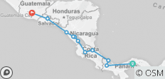 Wonders of Central America - 22 days - 11 destinations