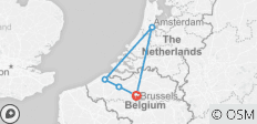 I Need Brussels - Brussels, Flanders and Amsterdam Highlights Experience - 5 destinations
