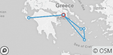 Zakynthos & 3 Aegean Islands Tour - 10 Days - Premium - 7 destinations