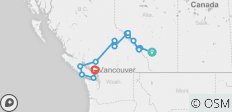 Simply Rockies and Vancouver Island (Vancouver To Calgary) - 15 destinations