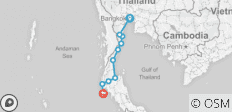 Private self-guided: Cycle Thailand from Bangkok to Phuket - 10 destinations