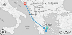 "From Celebrated Athens to Dubrovnik, the ""Pearl of the Adriatic\"" (port-to-port cruise) - 6 destinations"