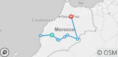 5 Days 4 nights holiday package Marrakech, Essaouira and Merzouga desert to Fes - 9 destinations